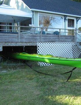Under Deck Kayak Storage Contemporary Hooks And Hangers Kayak