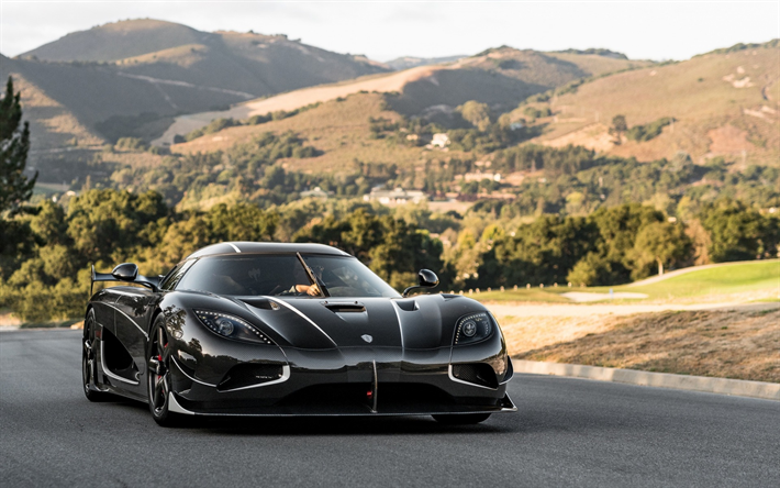Sports Cars · Download Wallpapers Koenigsegg Agera, RS Draken, Black Agera,  Supercar, Tuning, Racing
