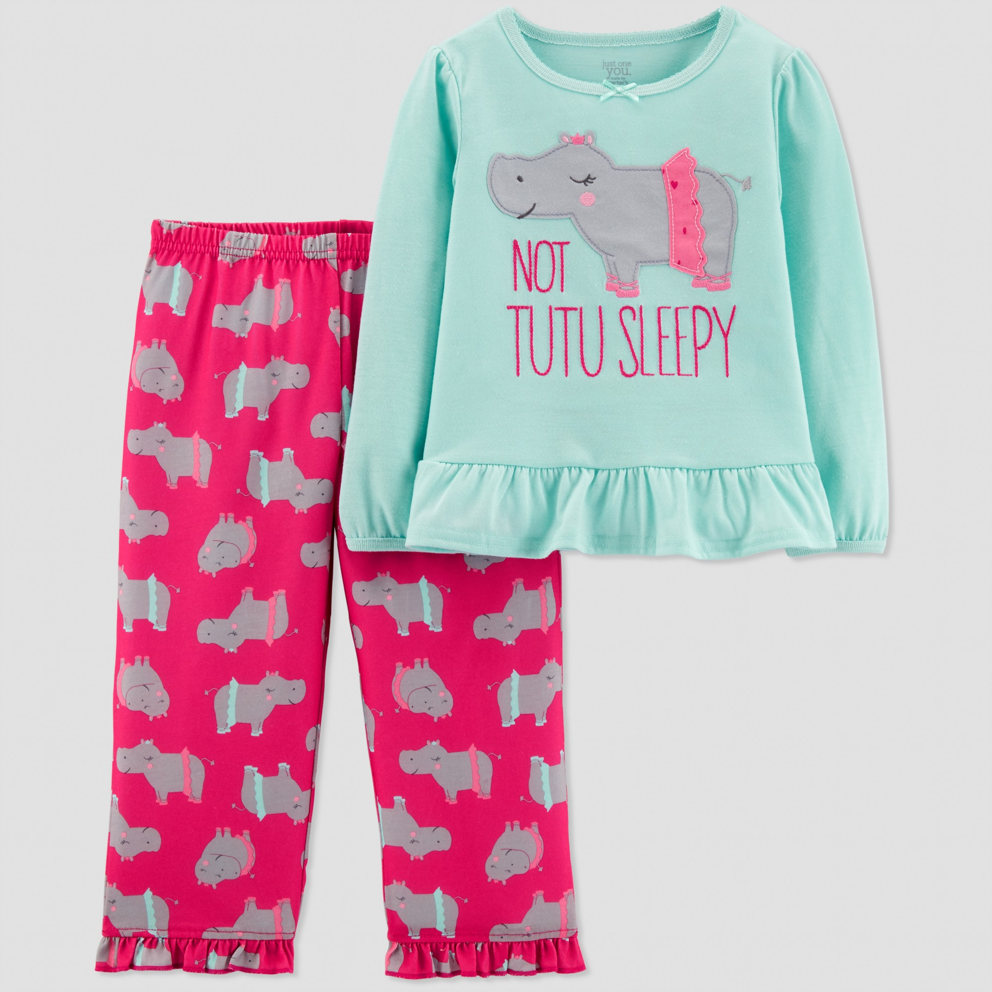 80e8af370 Toddler Girls  2pc Hippo North Pajama Set - Just One You made by ...