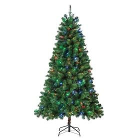 Holiday Living 6.5-ft Pre-Lit Pine Artificial Christmas Tree with ...