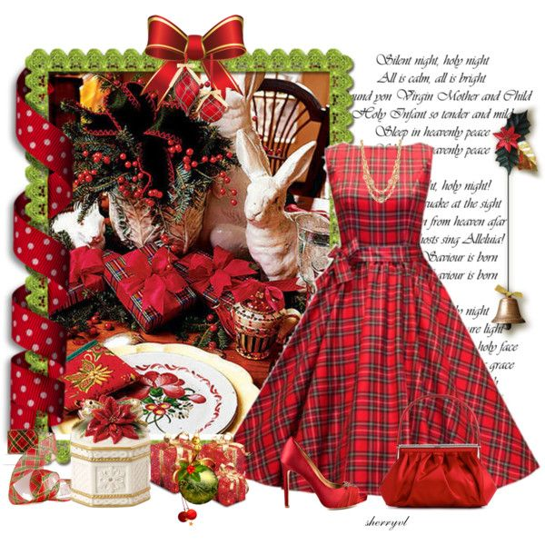 """""""Christmas Plaid Contest"""" by sherryvl on Polyvore"""