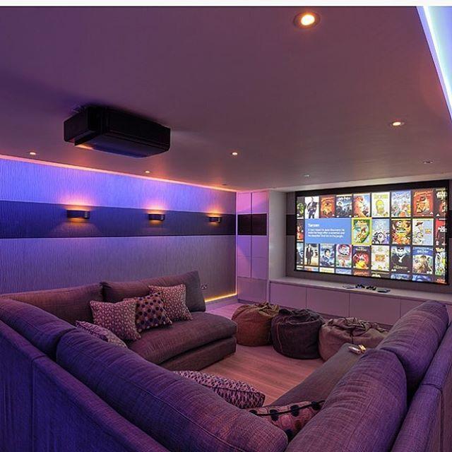 Get family and friends together for a movie night tag Theater rooms design ideas