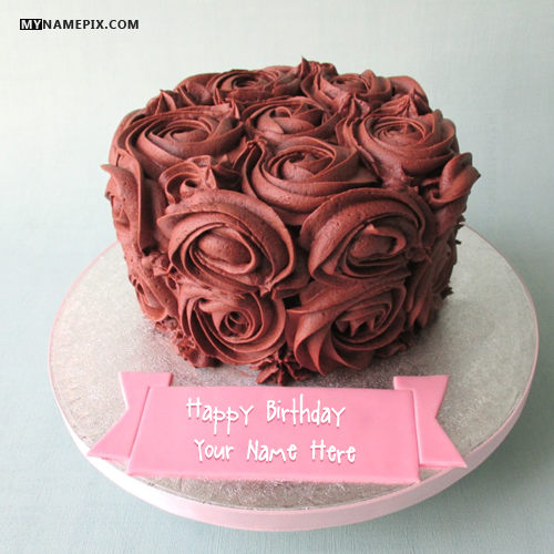 Best 1 Website for name birthday cakes Write your name on Flowers