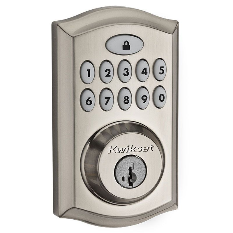 Secured Keyless Entry Convenienceone Touch Lockingdramatically Reduced Interior Size And Sleek Metal Design16 User Codes P Electronic Deadbolt Kwikset Deadbolt