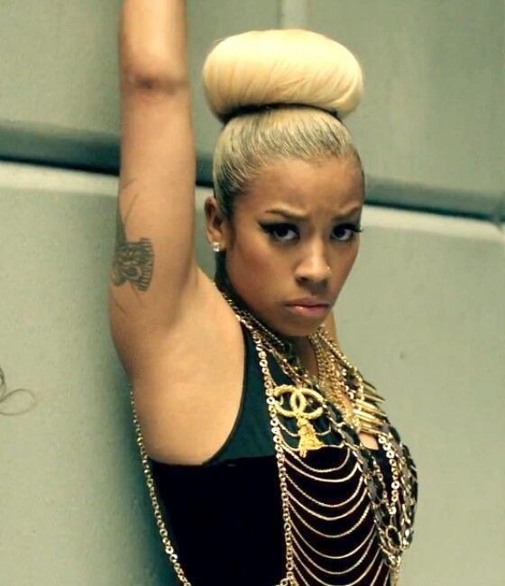 Keyshia Cole rocking a blonde high bun. on The Fashion Time http ...