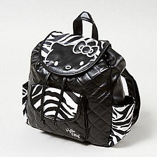((OMGosh.... I dooo NEED this one!))  Hello Kitty Zebra Backpack