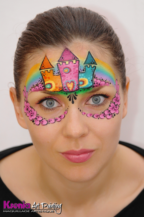 10440897 652431864843265 2943614824757297699 N Png 479 720 Colorful Castle Fairytale Mask Girl Face Painting Face Painting Designs Face Painting