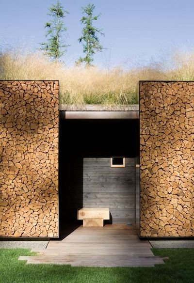Amazing Outdoor Log Storage Andersson Wise Architects