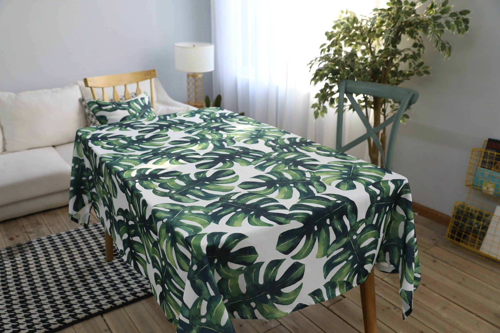 Drizzle Table Cloth Monstera Leaf Plant Palm Tree