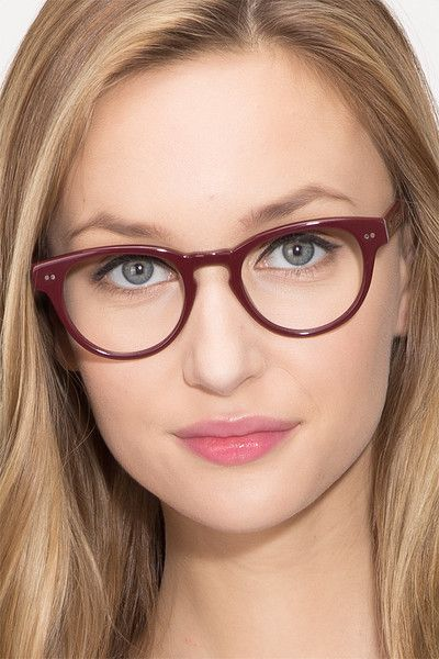 ba5a2fc05b Oversea Dark Red Acetate Eyeglasses from EyeBuyDirect. Exceptional style