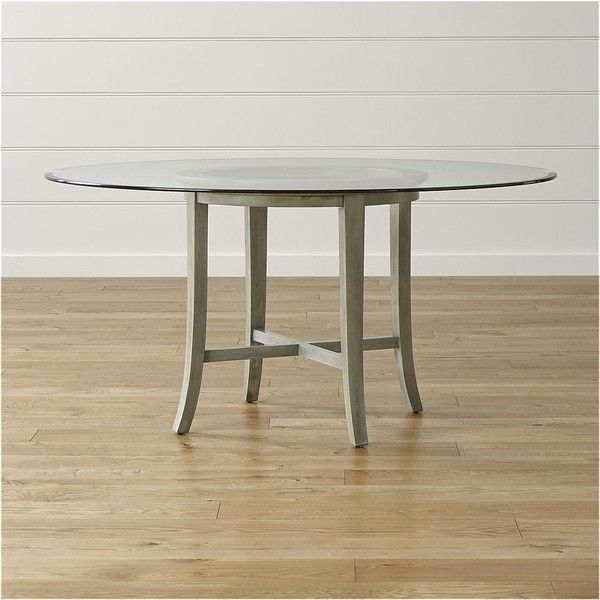 Crate Barrel Halo Grey Round Dining Table With 60 Glass Top