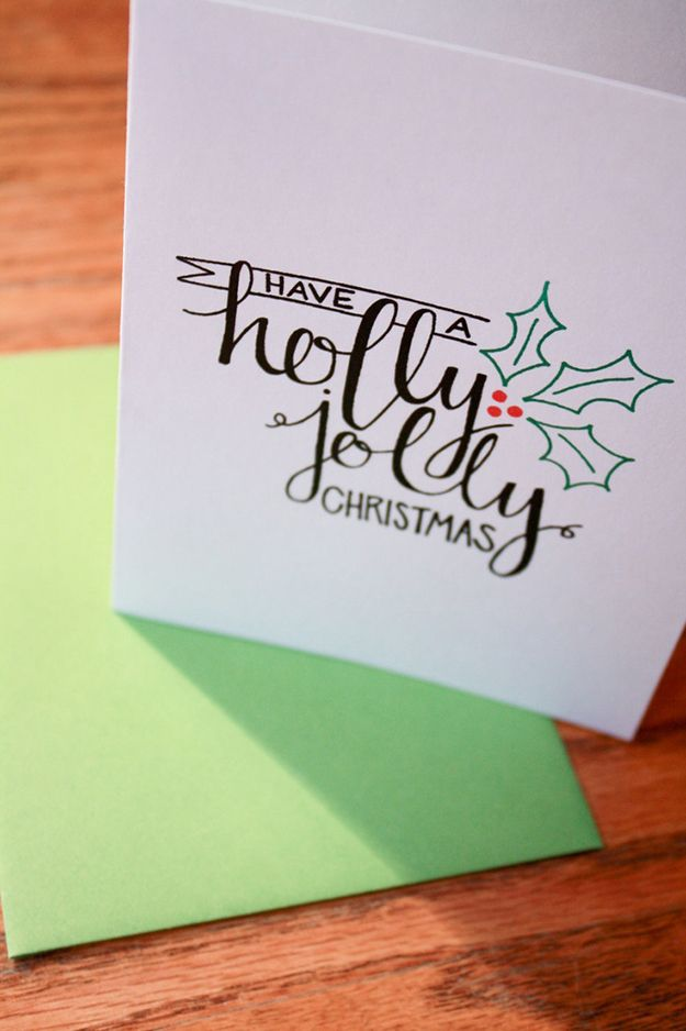 22 Handmade Calligraphy Christmas Cards You Can DIY | Typography ...