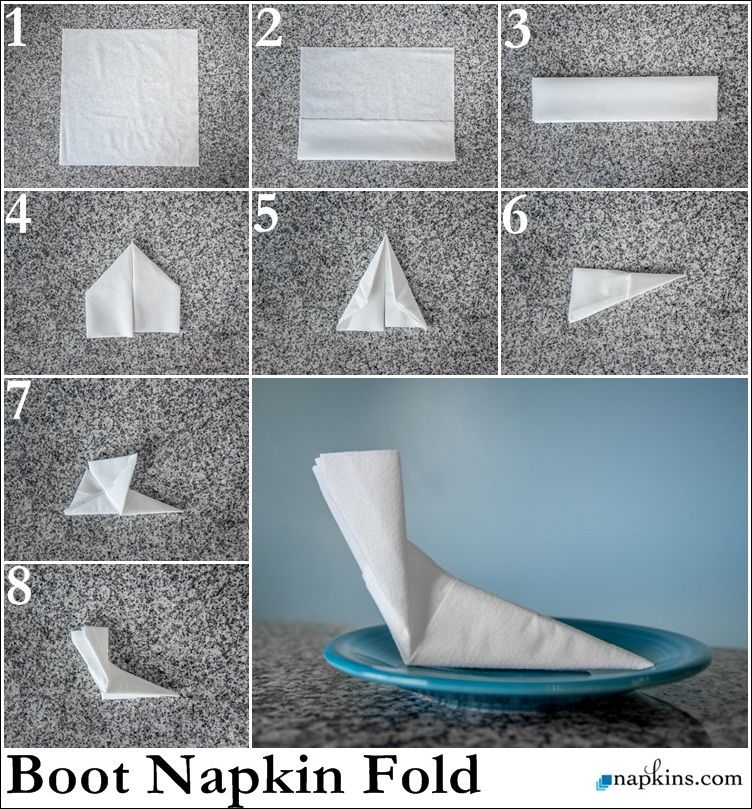 Elf Boot Napkin Fold Perfect For The Kids Table Winter