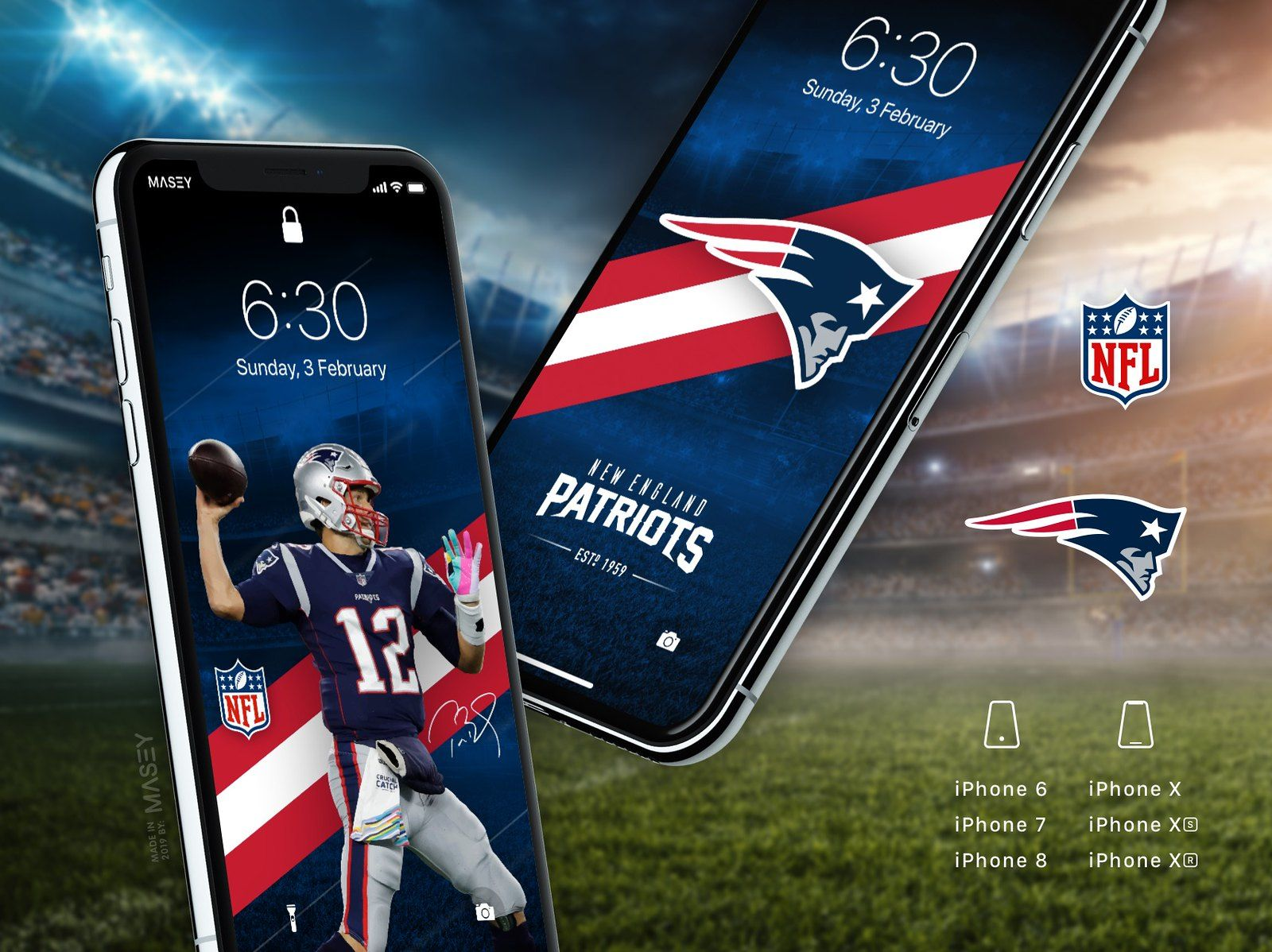 New England Patriots iPhone Wallpapers in 2020 (With