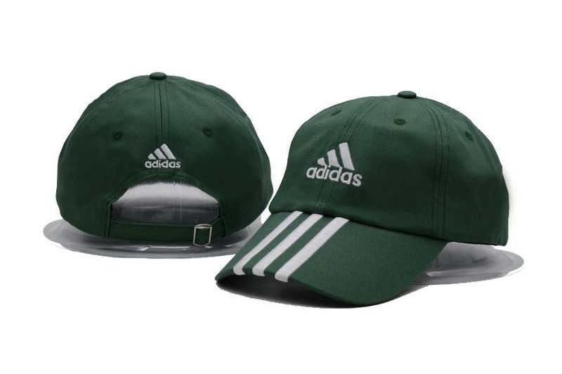 Men s   Women s Adidas Training Performance 3-Stripes Adjustable Baseball  Dad Hat - Green   White 0c44910007