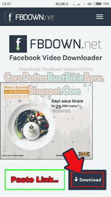 Tutorial cara download video di Facebook Android tanpa