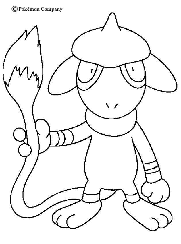 Smeargle Pokemon Coloring Page More Pokemon Coloring Sheets On