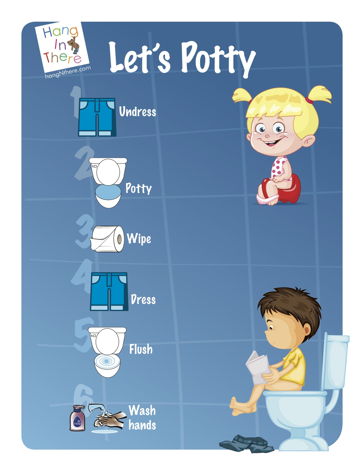 Post This Potty Training Sheet For Your Toddler These Pictures Are A Visual Guide To Help Her