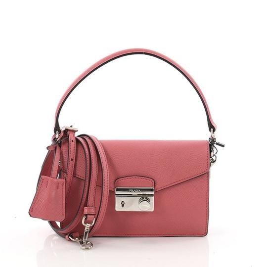 a06362a2caa4 Prada Convertible Sound Saffiano Mini Pink Leather Satchel - Tradesy