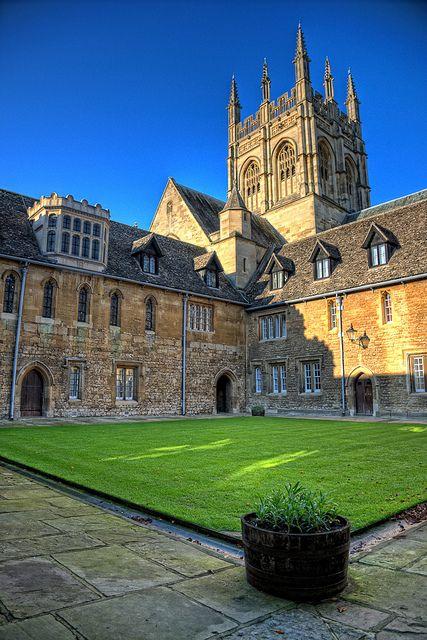 Mob Quad, Merton College Oxford england, Oxford city