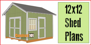 12x12 Shed Plans Gable Shedkits Diystorageshedplans Shed Plans Wood Shed Plans Building A Shed