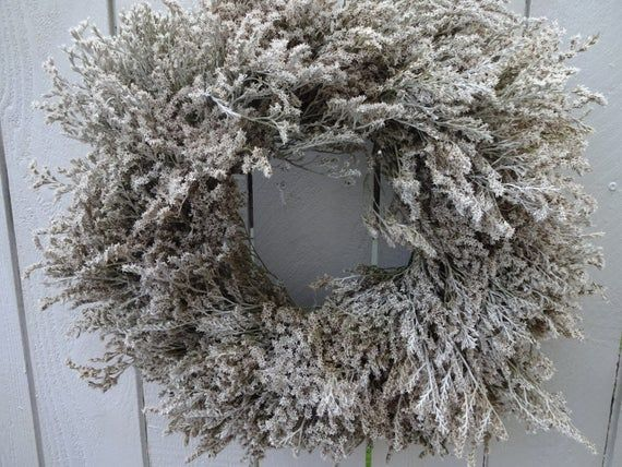 Photo of Winter White Wreath White Wreath Dried Wreath Natural Wreath Front Door Wreath Wall Decoration Shabby Chic Gift