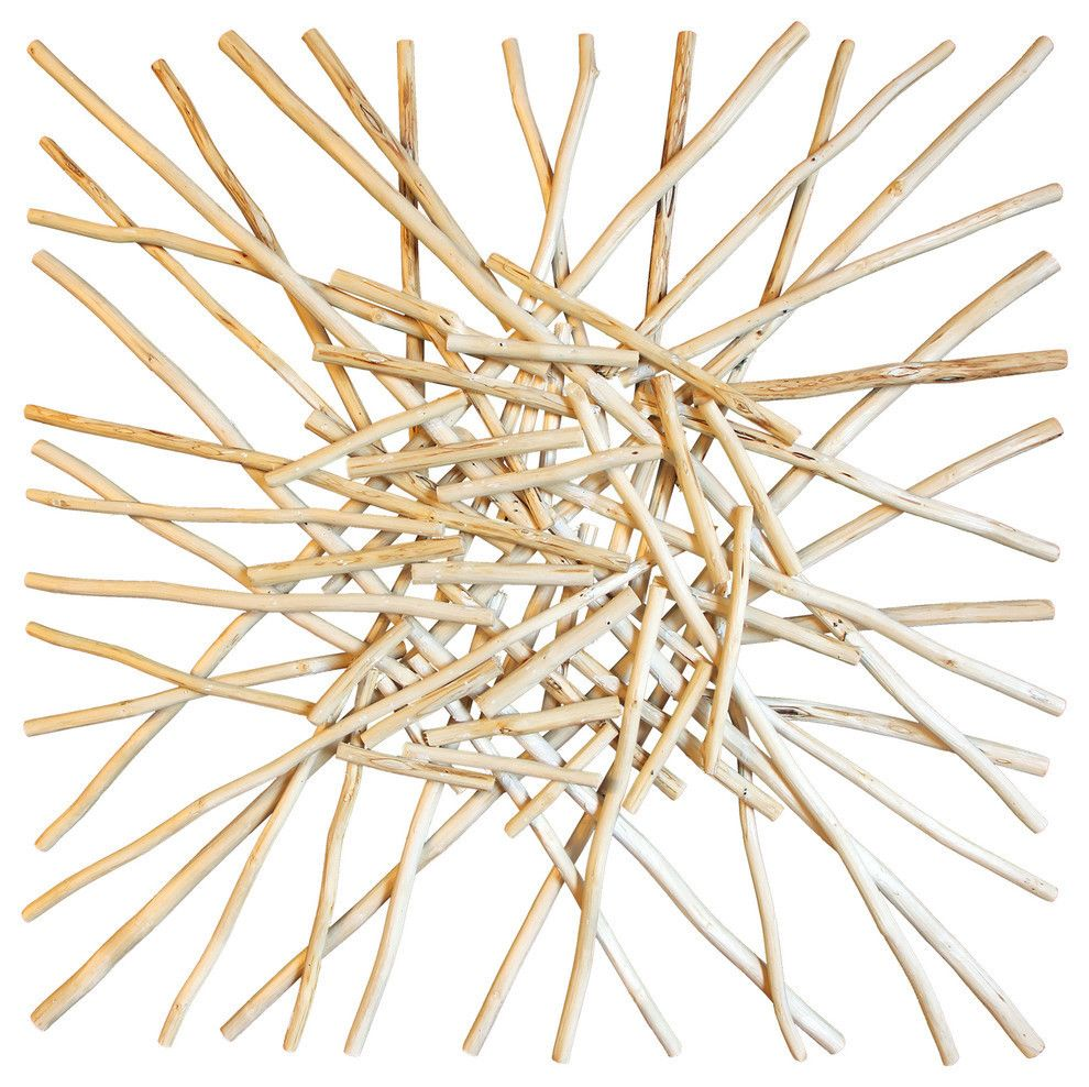 Stick cluster wall art asian art imports store home decor