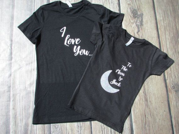 1296c33371 Mother Daughter Shirts - Mother's Day Shirts -Love you to the moon -  Matching Mommy Daughter - Mommy Daughter Shirts - Mom Daughter Tee
