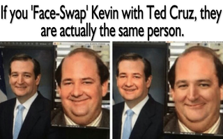 Kevin Ted Cruz Dundermifflin Office Memes Kevin The Office Funny Memes