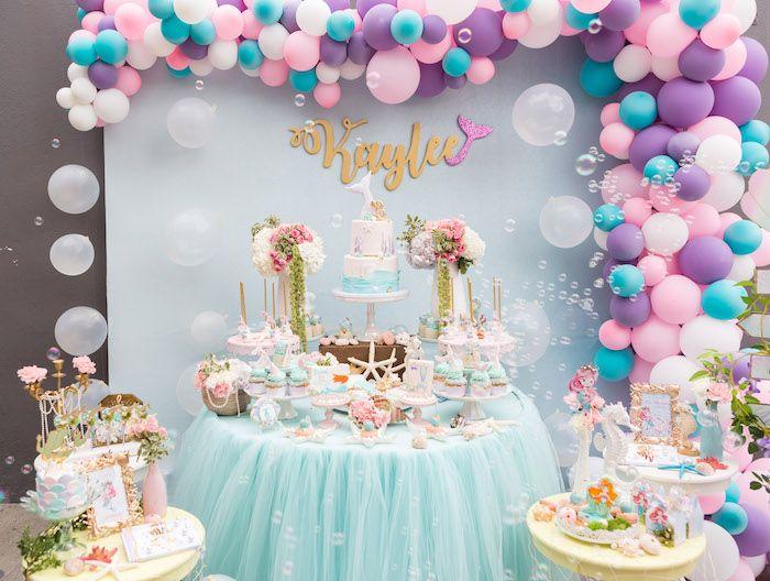 Pastel Mermaid Birthday Party Mermaid Birthday Party