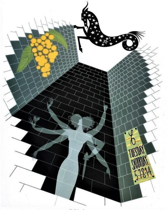 Scorpio  by Erte  Paper Print Repro The Zodiac