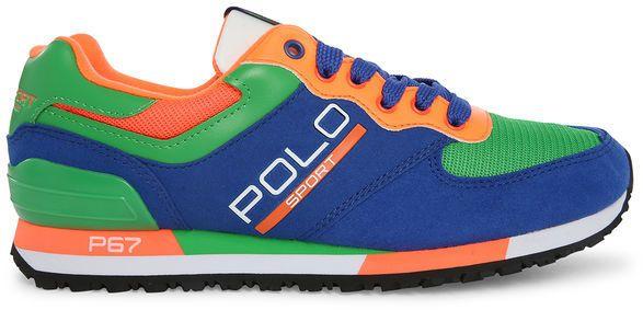 POLO Ralph Lauren - Blue Multi Slaton Polo Sneakers   Great Designs ... 6120a68ece6