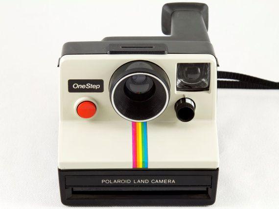 Polaroid Camera Urban Outfitters : Vintage polaroid onestep sx white rainbow stripe instant camera