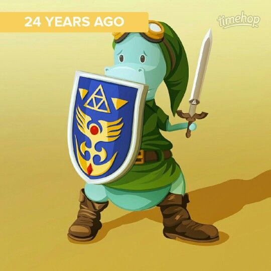 "24 yrs old today. ""The Legend of Zelda"""