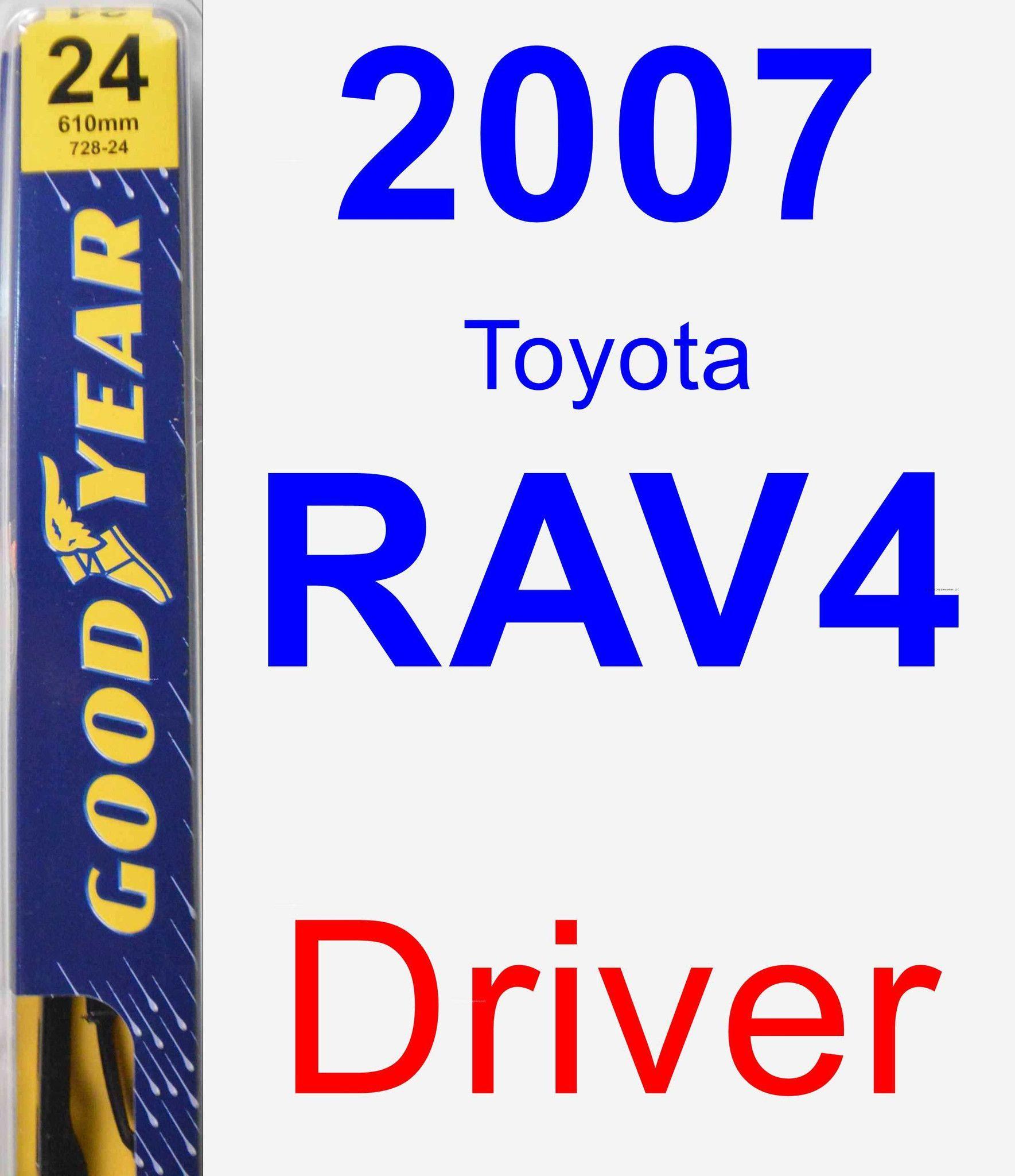 Driver Wiper Blade For 2007 Toyota RAV4 - Premium