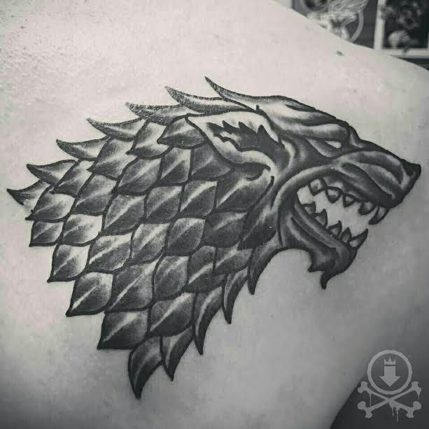 Awesome Black And Grey Dire Wolf Symbol From Game Of Thrones Tattoo By Jose Bolorin 12ozstudios Te Wolf Tattoo Design Game Of Thrones Tattoo Tattoo Designs