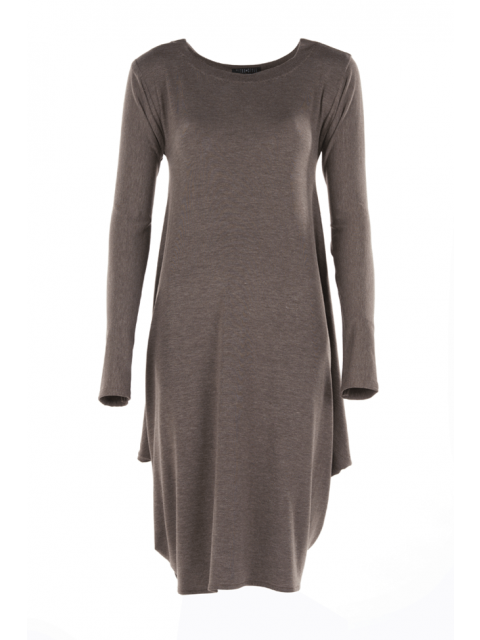 Brown Jersey Cowl Tunic from Citra Style