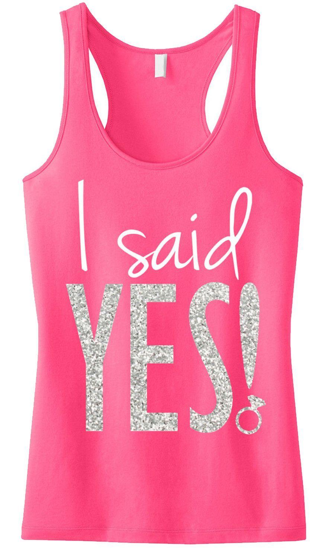 I SAID YES! Silver Glitter Tank Top | Tiendas de novia, De novia y ...