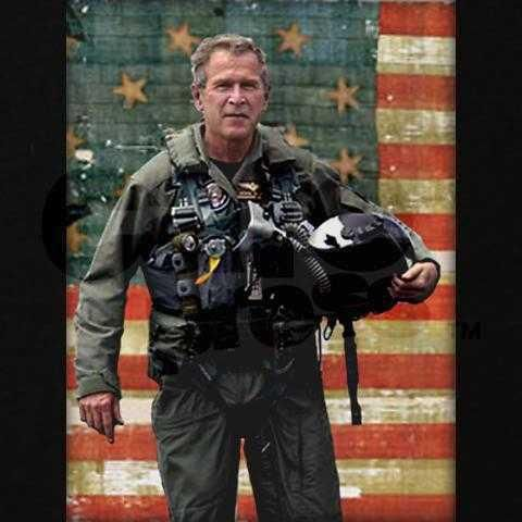 ..President Bush..:)  I don't believe I have ever seen Obama in a military uniform... hmmm.. why is that.. oh yeah, he didn't serve!