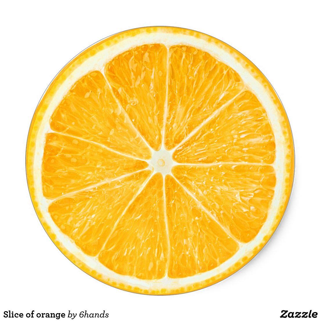Slice Of Orange Classic Round Sticker Zazzle Com Orange Slices Orange Fruit Orange
