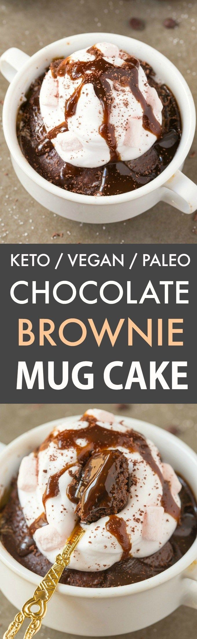 This keto chocolate brownie mug cake is the BEST vegan and ...