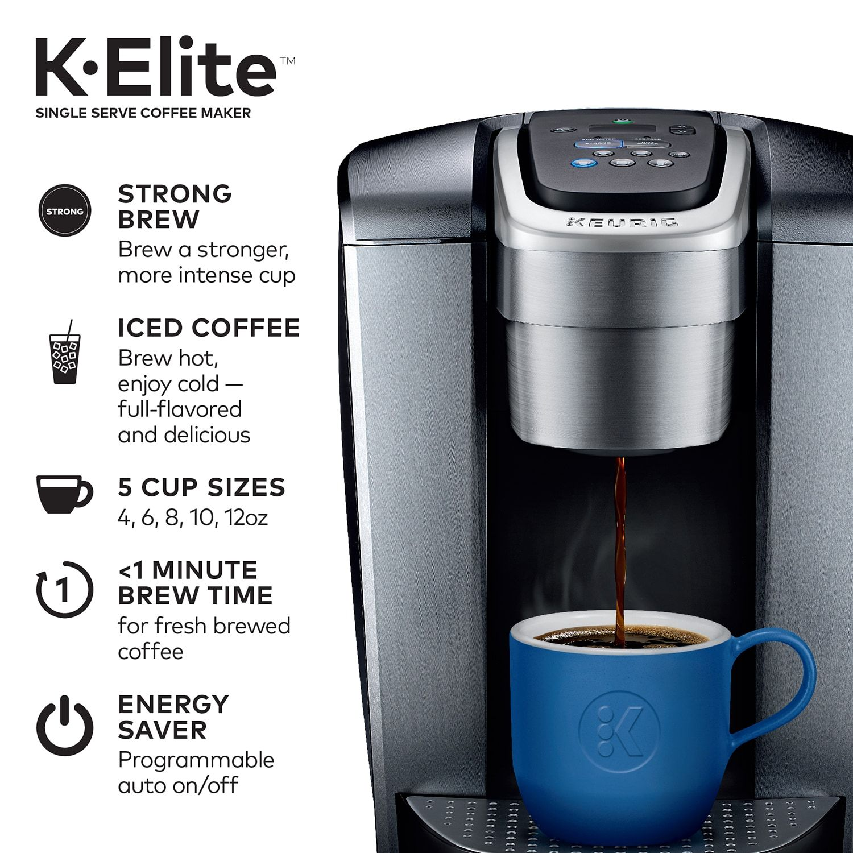 Keurig K Elite Single Serve K Cup Pod Coffee Maker Single Serve Keurig Elite Single Serve Coffee Makers Pod Coffee Makers Keurig