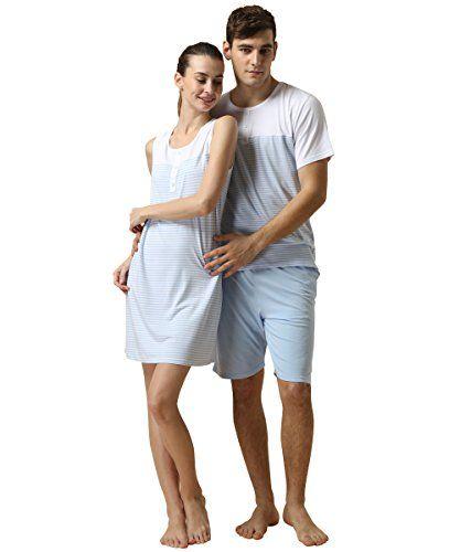Qianxiu Lover Cotton Summer Pajama Set Women Sleeveless Gown Men Sleep Shorts  http://www.newsummerstyle.com/qianxiu-lover-cotton-summer-pajama-set-women-sleeveless-gown-men-sleep-shorts/