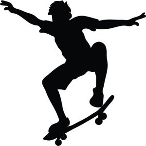 skateboard clipart image skateboarder riding a skateboard and doing rh pinterest com clipart skateboarding skateboard clipart black and white