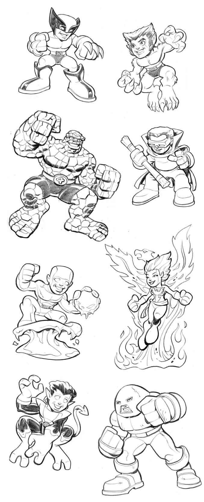 hero squad coloring pages - photo#41