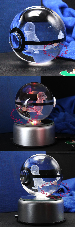 [Visit to Buy] New Design 3D laser Engraving Crystal Ball