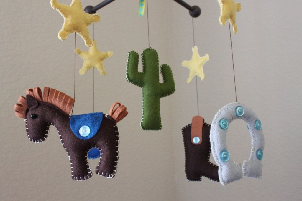 Baby Crib Mobile Baby Mobile Nursery Rodeo Cowboy