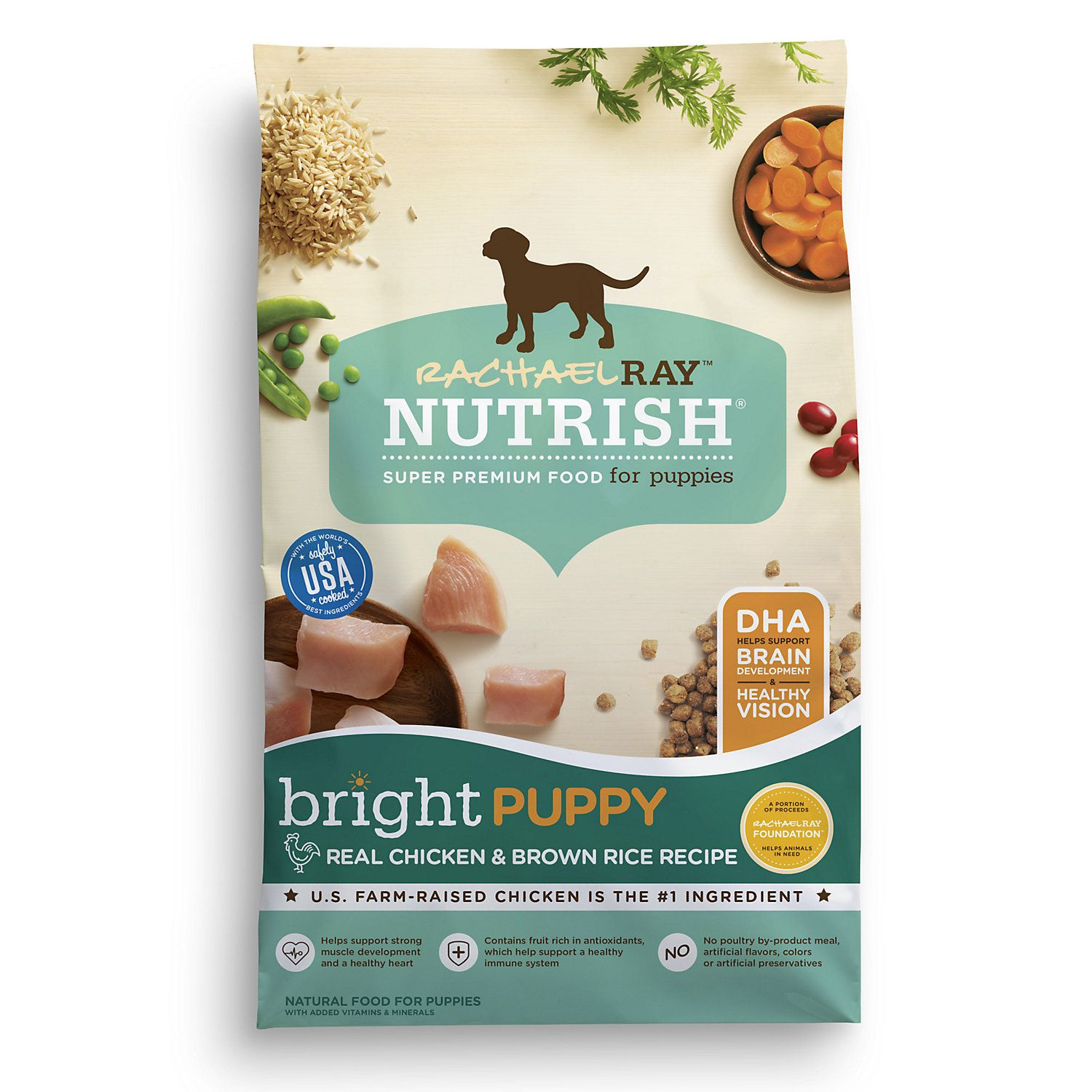 Rachael Ray Nutrish Bright Puppy Natural Real Chicken Brown Rice Recipe Dry Food 14 Lbs In 2020 Brown Rice Recipes Dog Food Recipes Chicken Brown Rice