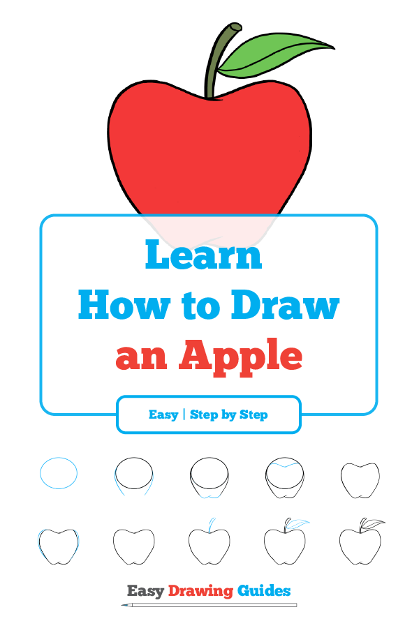 How To Draw An Apple Really Easy Drawing Tutorial How To Draw