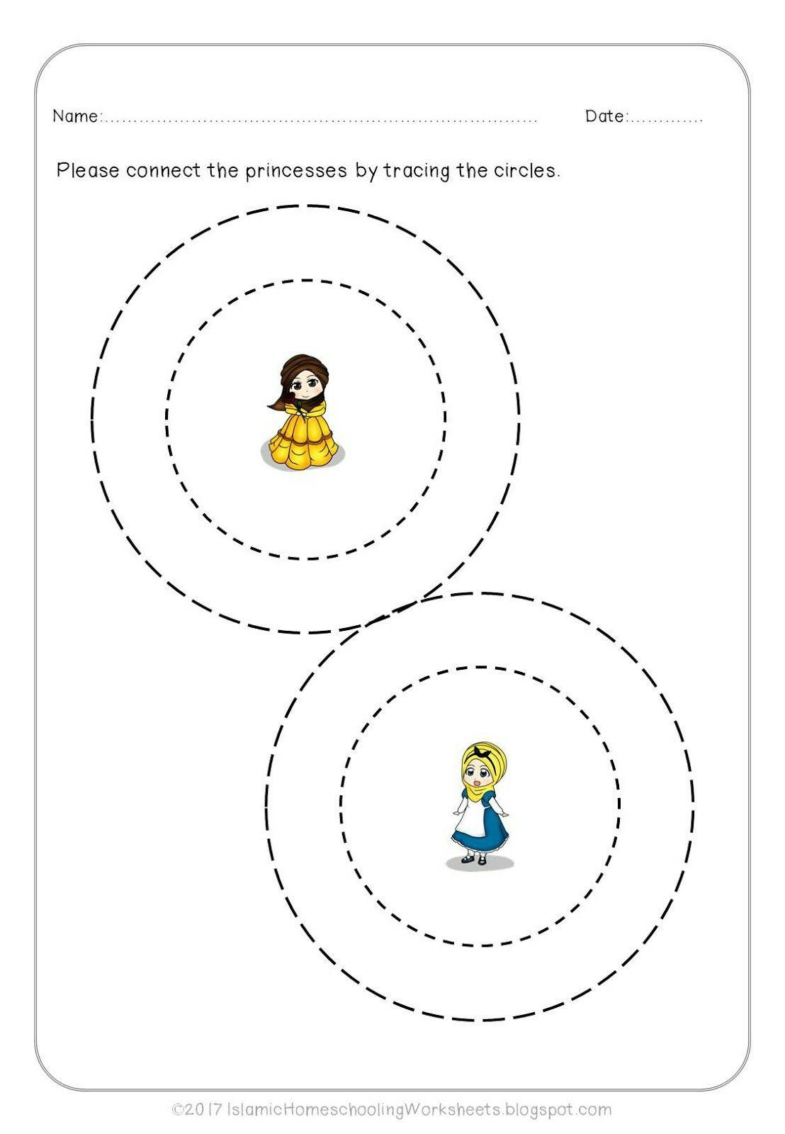 Free Prewriting Practice In Disney Princess Preschool Pack